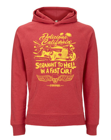 Classic Chunky Hoody - Straight To Hell In A Fast Car!