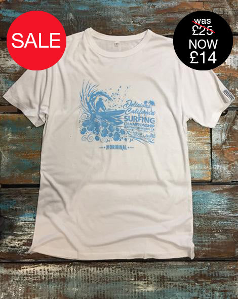 Huntington Beach Surf Comp - Mens Bamboo Jersey Tee - Delicious California