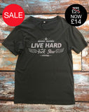 'Live Hard Fuck Slow' Graphic T-Shirt - Delicious California