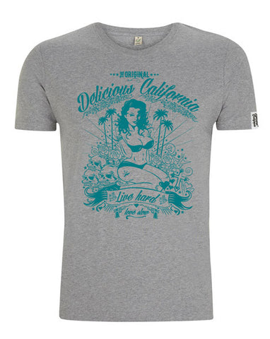 Women's Vintage Washed Graphic T-shirt - '100% Pure'