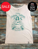 Women's sleeveless Graphic T-Shirt - 'Love Slow' - Delicious California