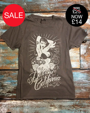 '100% Pure' Pinup Design Branded T-Shirt