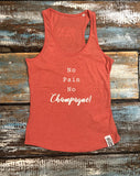 Yoga Vest - 'No Pain No Champagne!' - Delicious California