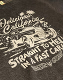 Sweatshirt (100% Recycled) - Straight To Hell In A Fast Car! - Delicious California