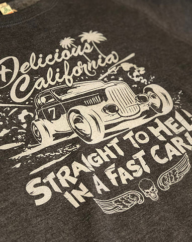 Sweatshirt (100% Recycled) - Straight To Hell In A Fast Car!