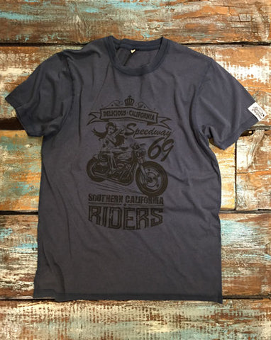 Southern Riders - Men's 100% Organic T-Shirt [Denim Blue]
