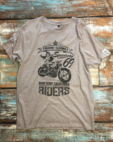 Southern Riders - Men's 100% Organic T-Shirt [Melange Grey]