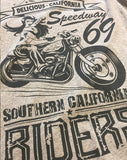 Southern Riders - Men's 100% Organic T-Shirt [Melange Grey] - Delicious California