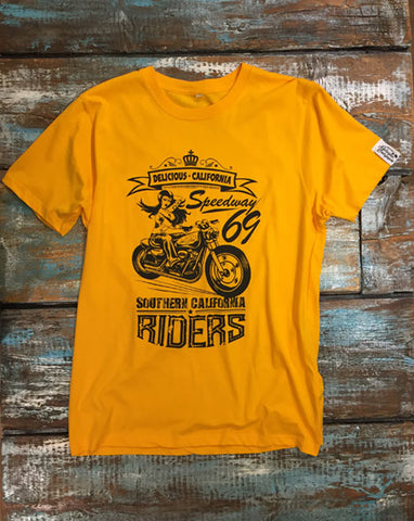 Southern Riders - Men's 100% Organic T-Shirt [Yellow]