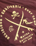 'Delicious California' Surf Camp' Graphic T-Shirt - Delicious California