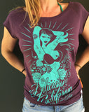 '100% Pure' Design - Women's Bamboo Fitted T-Shirt - Delicious California
