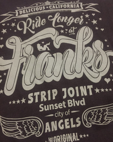 'Ride Longer At Franks Strip Joint!' - Women's Bamboo T-Shirt