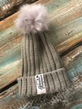 Delicious California Faux Fur Pom-Pom Beanies