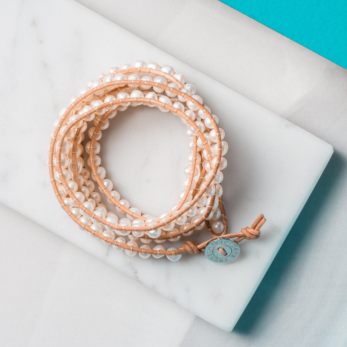 Freshwater Pearls On Natural Wrap Bracelet