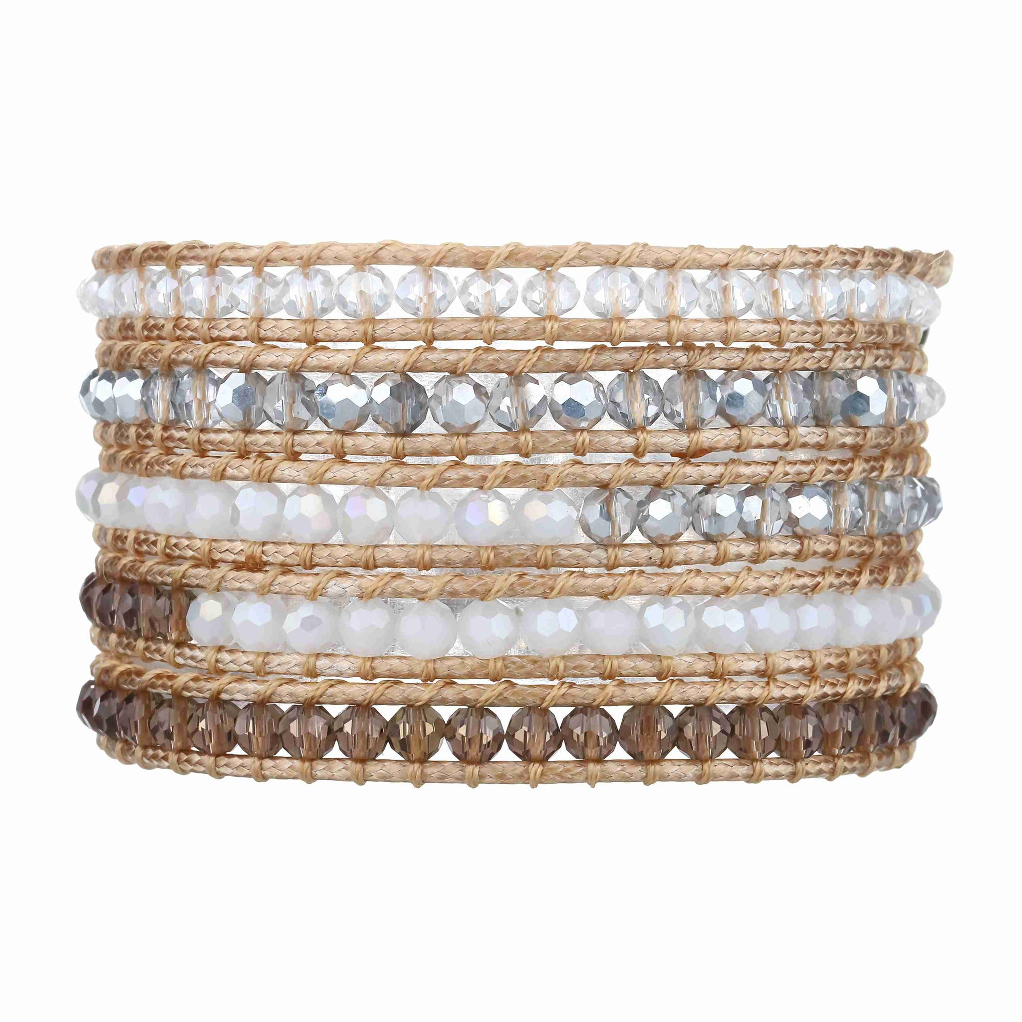 Vegan Wrap Bracelets Victoria Emerson Korean Style Blus With Necklace Short Sleeve Champagne Crystals And White Jade On Natural
