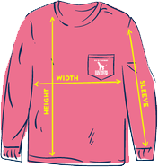 SoFriCo Sizing Chart Youth Long Sleeve