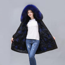 Load image into Gallery viewer, 2020 New Long Fox Fur Full-Lined and Raccoon Fur Trimmed Parka