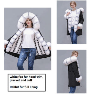 2020 New Rabbit Fur Full-Lined and Fox Fur Trimmed Parka
