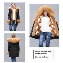 Load image into Gallery viewer, 2020 New Fox Fur Full-Lined and Trimmed Parka