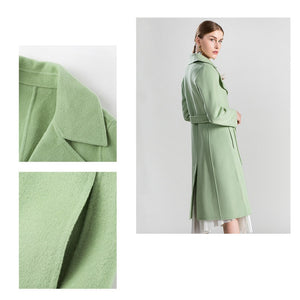2020 New Cashmere Coat with Belt