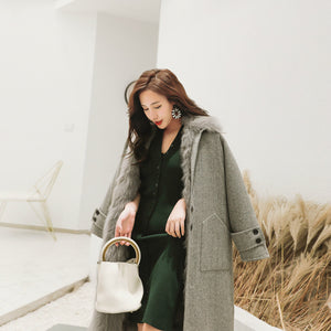 2020 New Fox Liner Cashmere Coat