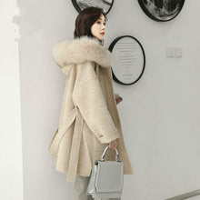Load image into Gallery viewer, Cashmere Coat with Genuine Fox Fur