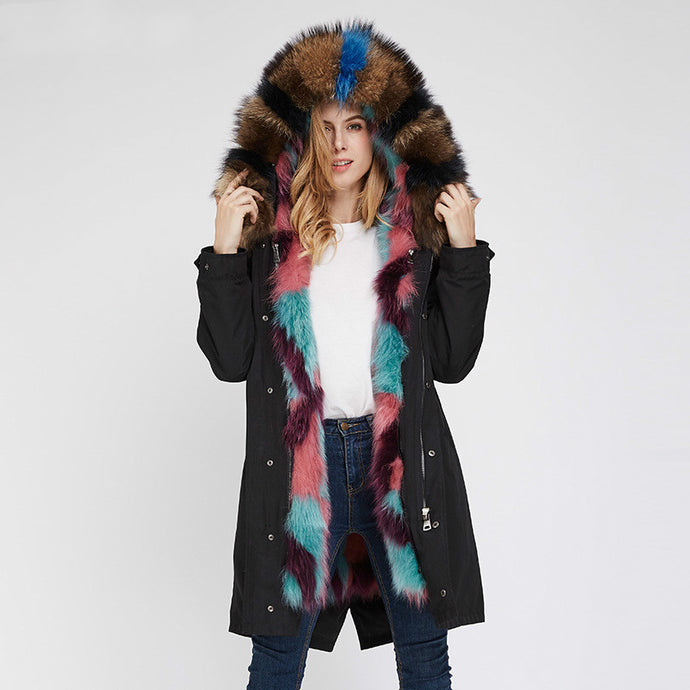 2020 New Multi-Color Fox Full-Lined and Raccoon Trimmed Parka