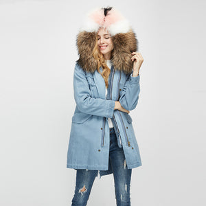 2020 New Rabbit Fur Full-Lined and Raccoon Fur Trimmed Parka