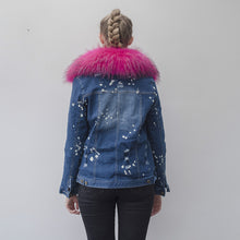 Load image into Gallery viewer, Rabbit Fur Full-Lined and Raccoon Fur Trimmed Denim Parka