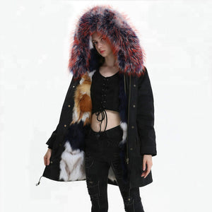 Fox Fur Full-Lined and Raccoon Fur Trimmed Parka