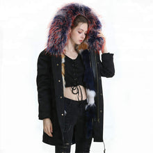 Load image into Gallery viewer, Fox Fur Full-Lined and Raccoon Fur Trimmed Parka