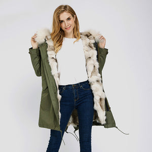 2020 New Fox Fur Full-Lined and Raccoon Fur Trimmed Parka