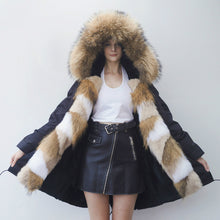 Load image into Gallery viewer, Rabbit Fur Full-Lined and Fox Fur Trimmed Parka