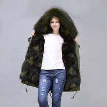 Load image into Gallery viewer, 2020 New Fox Fur Full-Lined and Raccoon Fur Trimmed Parka