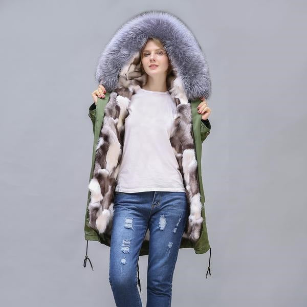 2020 New Fox Fur Full-Lined and Trimmed Parka