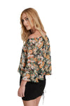 3/4th Sleeve Floral Top