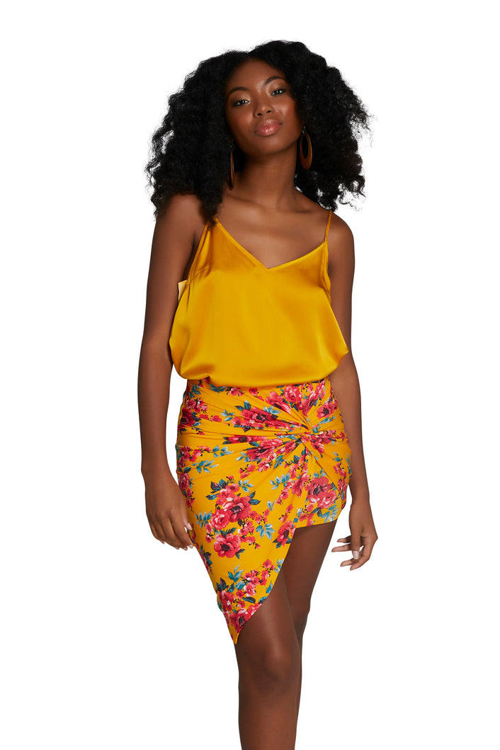 Hanna Mini Skirt Yellow Red