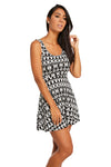 Santa Fe Black & White Dress