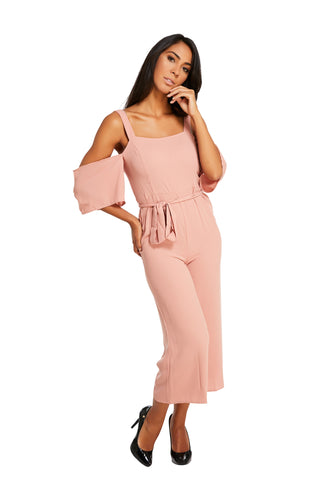 Tiffany Maxi Jumpsuit Strap Rose
