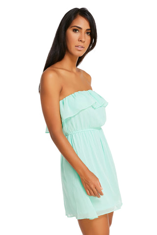Anastacia Neon Mint Strapless Bubble