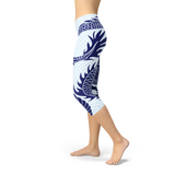 Womens Japanese Dragon Capri Leggings