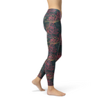 Womens Floral Lotus Leggings