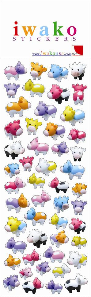 Iwako Cows Stickers