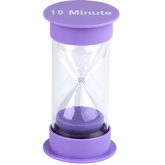 10 Minute Sand Timer Medium (purple)