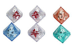 10-sided (d10) Double Dice - Color Varies