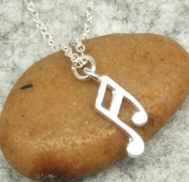 Sixteenth Notes Mini Charm Necklace