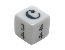 Load image into Gallery viewer, 16 mm Simple Time Signature Dice - Set of 15