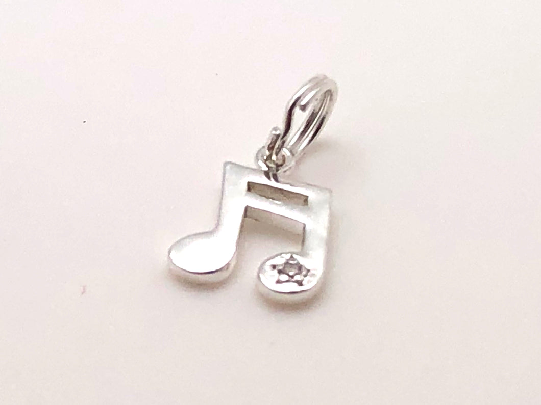 925 Sterling Silver Sixteenth Note Star Charm