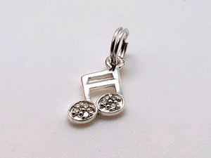 925 Sterling Silver Sixteenth Note Charm