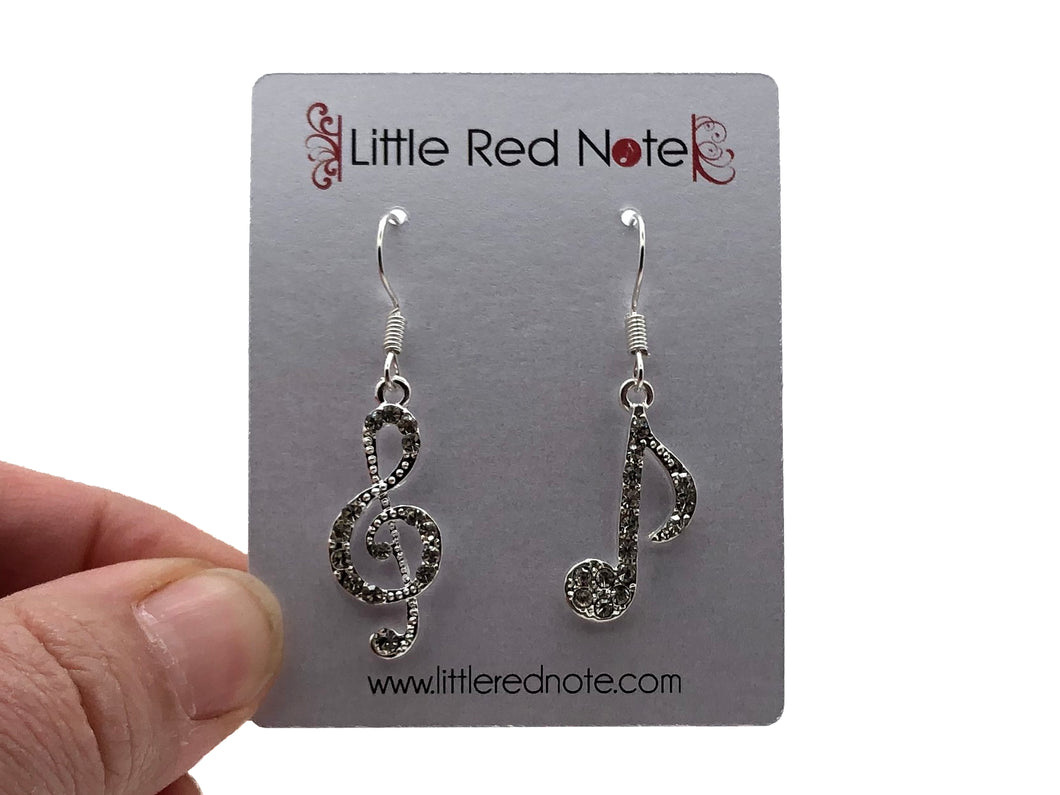 Treble Eighth Crystal Earrings